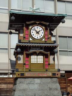 道後温泉駅近くの時計台の写真・画像素材[1613231]