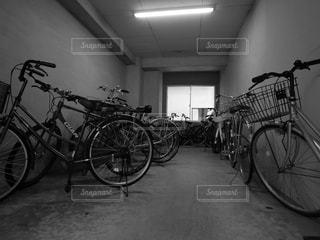 自転車置き場の写真・画像素材[1710874]