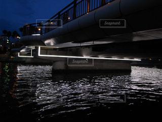 徳島 夜の新町川の写真・画像素材[2290000]