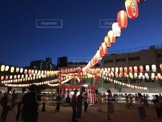 夏の盆踊り大会の写真・画像素材[1468698]