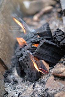 焚き火の写真・画像素材[1487146]