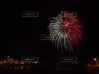 夜空の花火の写真・画像素材[1469043]
