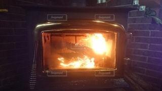 暖炉の写真・画像素材[2865242]