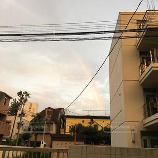 うっすら虹の写真・画像素材[1471932]