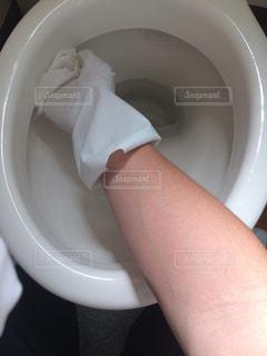 トイレ掃除の写真・画像素材[1502724]