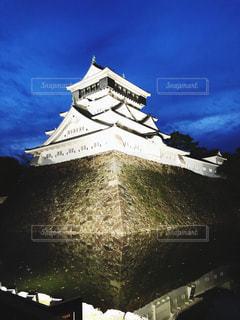 夜の小倉城の写真・画像素材[1471353]
