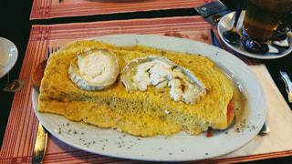 バルセロナで食べた卵料理の写真・画像素材[1541076]
