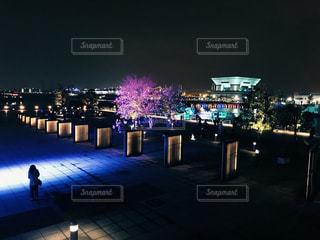 夜の街の景色の写真・画像素材[1626741]
