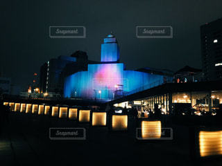 夜の街の景色の写真・画像素材[1626742]