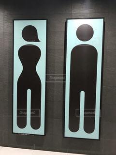 シェムリアップ国際空港のトイレの標識の写真・画像素材[1763287]