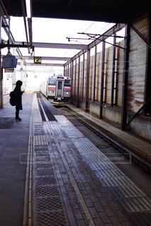 鉄道の駅に引いての写真・画像素材[1480175]