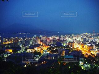 桜島を望む夜景の写真・画像素材[1472708]