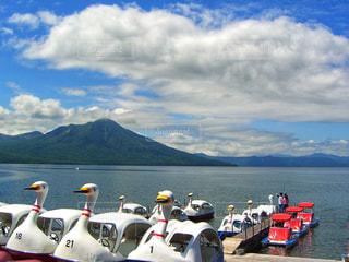 支笏湖、スワンボートの写真・画像素材[1656997]