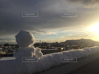 函館の街、雪だるまの写真・画像素材[1697127]