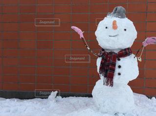 可愛い雪だるまの写真・画像素材[1714783]