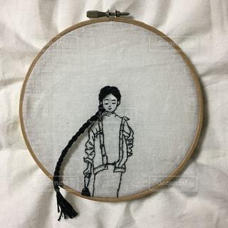 女の子の刺繍の写真・画像素材[1783699]