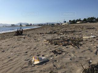 浜辺の漂流物の写真・画像素材[2092701]