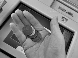 硬貨を持つ手の写真・画像素材[3640315]