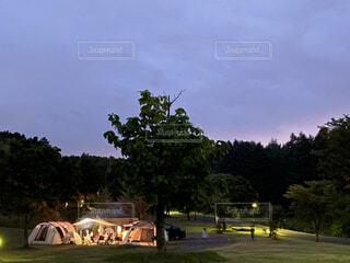 お洒落キャンプの写真・画像素材[3821701]