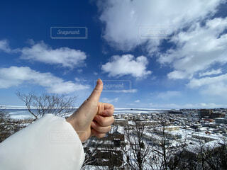 流氷がある街の風景の写真・画像素材[4212040]