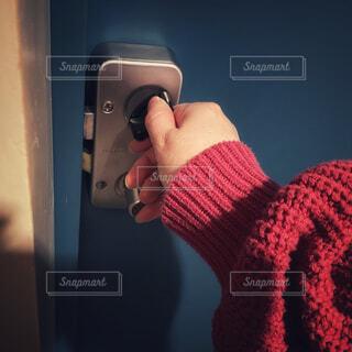 玄関の鍵の写真・画像素材[4238476]