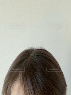 女性の髪のクローズアップの写真・画像素材[4318574]