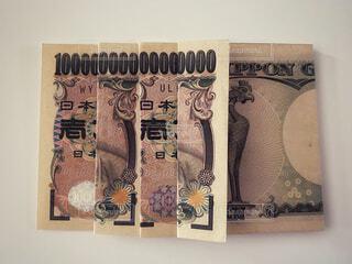 一万円札で1京の写真・画像素材[4771611]