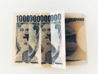 千円札で一兆円の写真・画像素材[4771774]