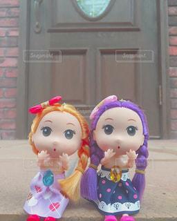 仲良しの人形の写真・画像素材[1527412]