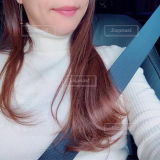 selfie を取る女性の写真・画像素材[1655118]