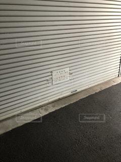 建物の側面にある記号の写真・画像素材[1787343]