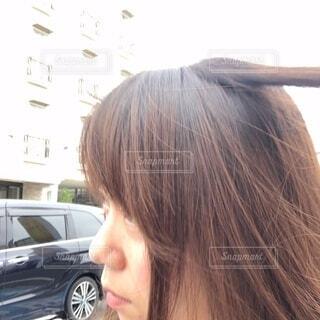 車に乗った女性の写真・画像素材[3386828]