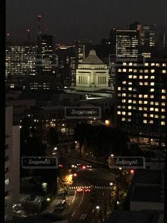 夜の街の景色の写真・画像素材[1489981]