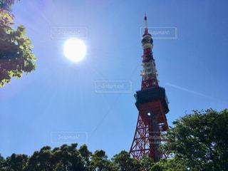 東京タワーと太陽の写真・画像素材[1475355]