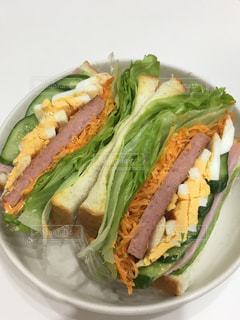 手作りサンドイッチの写真・画像素材[1476150]