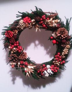 クリスマスリースの写真・画像素材[1476253]