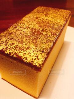 金沢土産の金箔カステラの写真・画像素材[2282822]