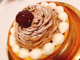 モンブランタルトケーキの写真・画像素材[2943252]