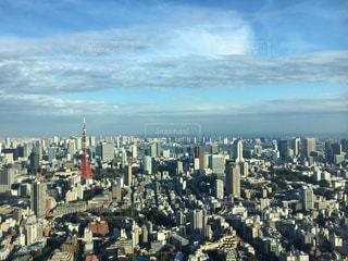 東京タワーと東京の街の俯瞰の写真・画像素材[1601526]