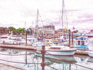 グランビルアイランドの港の写真・画像素材[1491989]