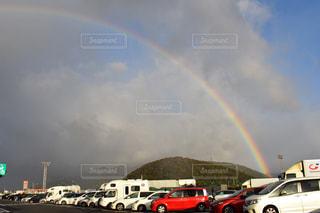 空に虹の写真・画像素材[1634622]