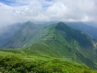 山頂からの景色の写真・画像素材[1478128]