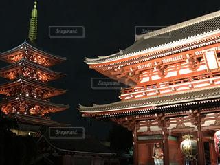 夜の浅草の写真・画像素材[1515073]