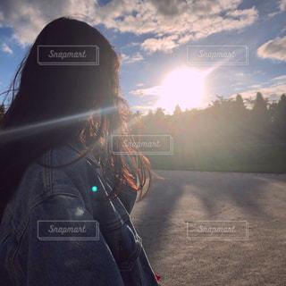 夕日に染まるの写真・画像素材[1481090]