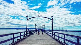 空と橋の写真・画像素材[1484881]