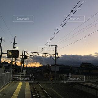 駅と夕焼けの写真・画像素材[1634629]