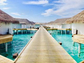 モルディブの水上コテージの写真・画像素材[2113704]