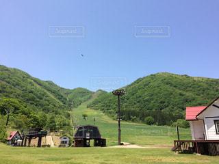 夏のスキー場の写真・画像素材[1490357]