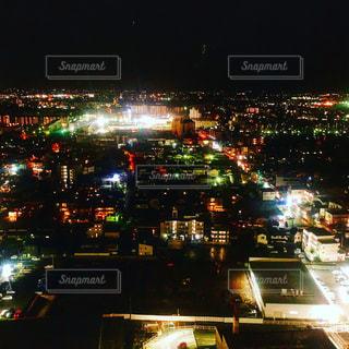 ホテルのスイートルームから見る夜景。の写真・画像素材[1636297]