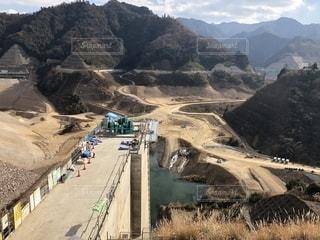 ダム建設工事現場の写真・画像素材[1481593]